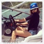 Irina Shayk behind the wheel Memorial Day