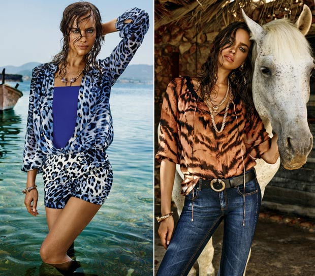 Irina Shayk Cavalli CandA collection ad campaign