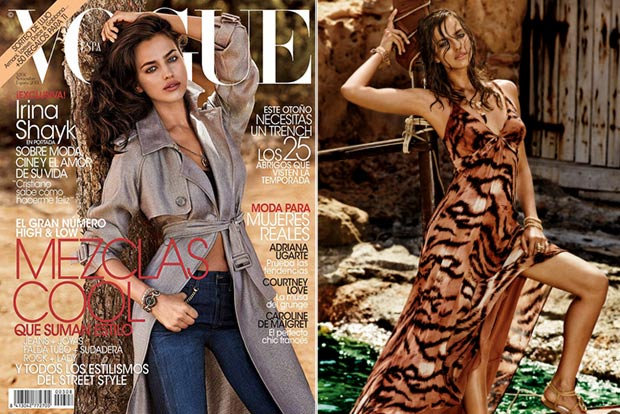 Irina Shayk Vogue Spain nov13 Cavalli CandA collection