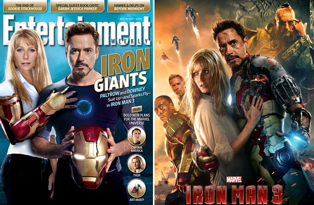 Iron Man 3 Spoiler Cover: Gwyneth Paltrow And Robert Downey Jr.