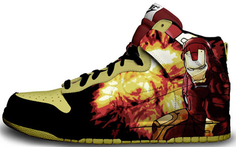 Ironman hand painted sneakers