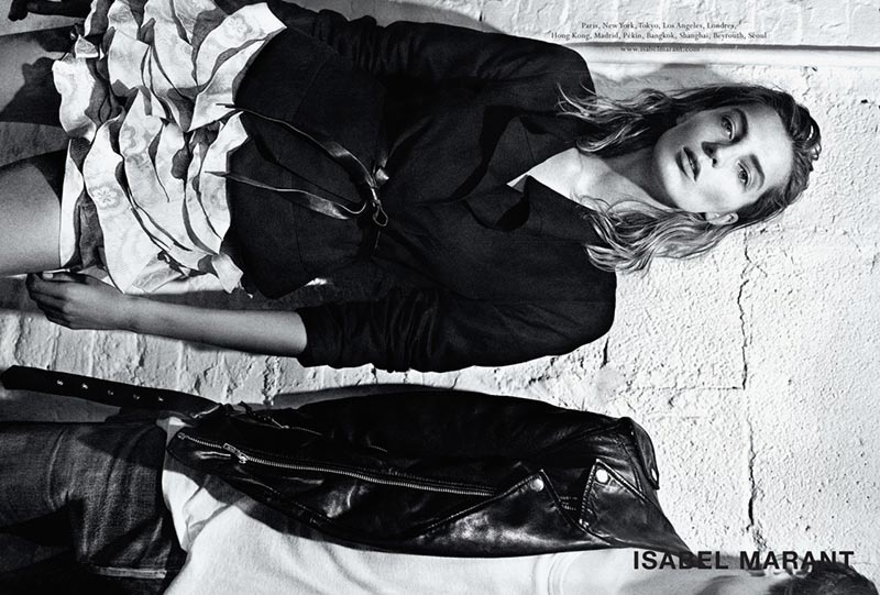 Isabel Marant Spring Summer 2014 ad campaign Daria Werbowy