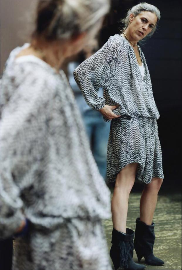 Isabel Marant wears dress from HM