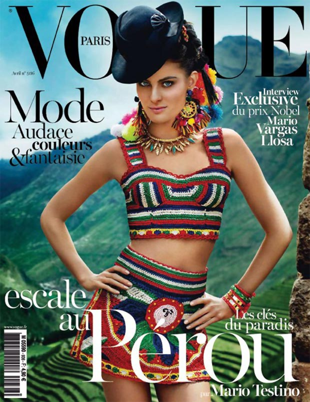 Isabeli Fontana Vogue Paris April 2013 Testino cover