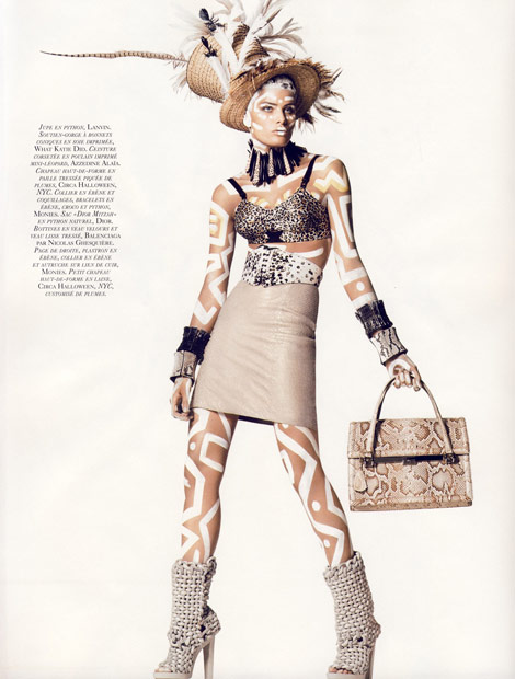 Isabeli Fontana Vogue Paris November 2009 Keith Haring