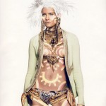 Isabeli Fontana Vogue Paris November 2009 body paint