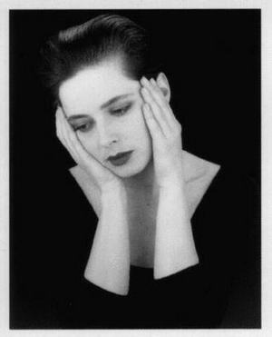 Isabella Rossellini black and white picture
