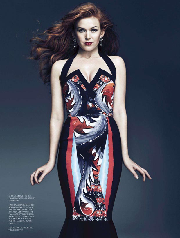 Isla Fisher Fashion Magazine pictorial