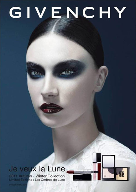 Jacquelyn Jablonski Givenchy beauty ad campaign fall 2011