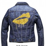 Jade Jagger denim jacket 100th anniversary Lee Cooper