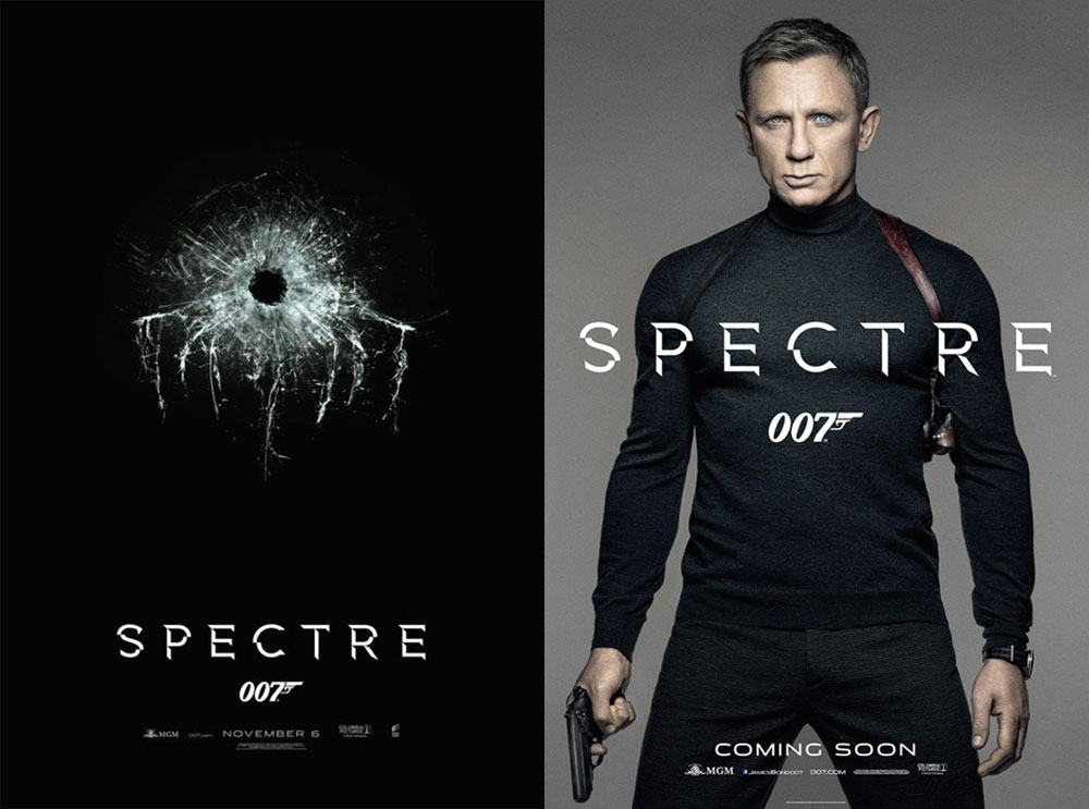 James Bond Spectre Daniel Craig posters