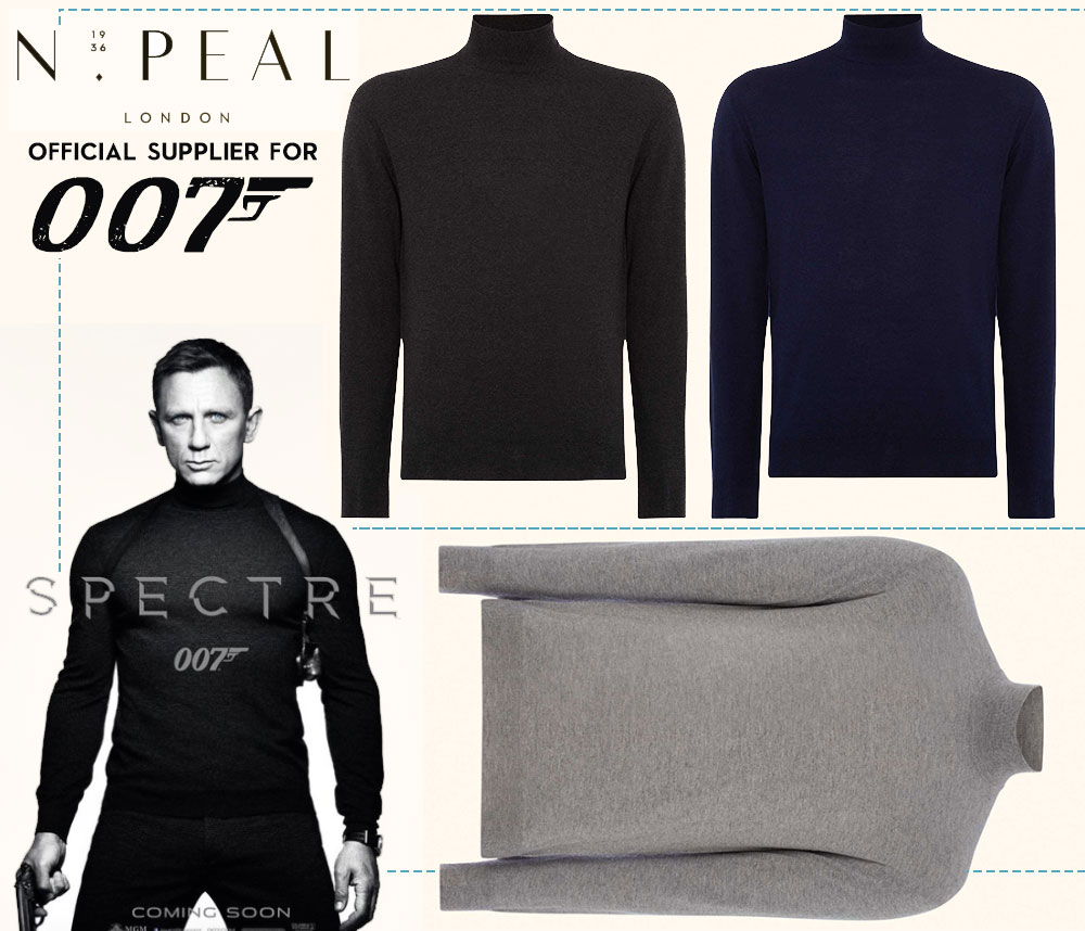 James Bond turtleneck sweater Spectre NPeal