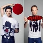James McAvoy Paul Bettany Comic Relief Red Nose t shirts