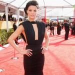 Jamie Alexander black dress 2013 SAG Awards