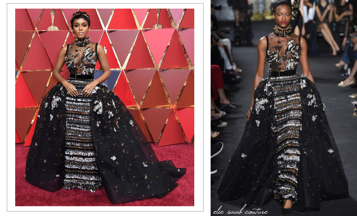janelle monae dress red carpet 2017 oscars elie saab