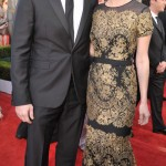 January Jones Carolina Herrera Lace Dress 2011 SAG Awards 1
