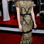 January Jones Carolina Herrera Lace Dress 2011 SAG Awards 2