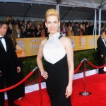 January Jones Prabal Gurung black dress 2013 SAG Awards