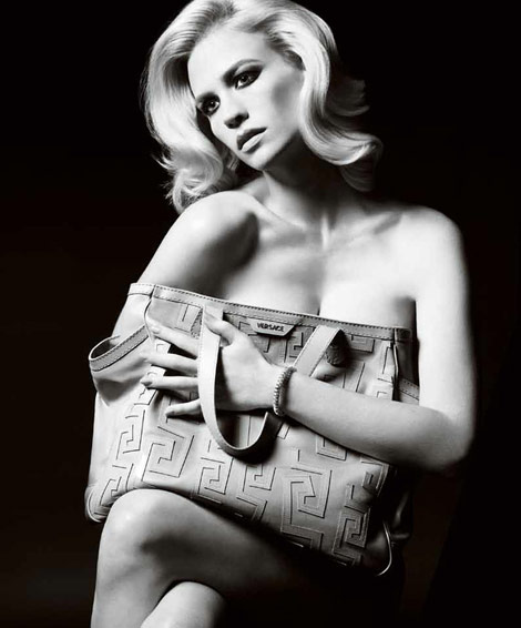 January Jones Versace Accessories ad campaign 2011 bag