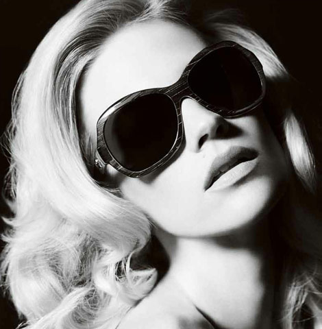 January Jones Versace Accessories ad campaign 2011 shades