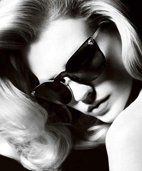 January Jones Versace Spring Summer 2011 Campaign