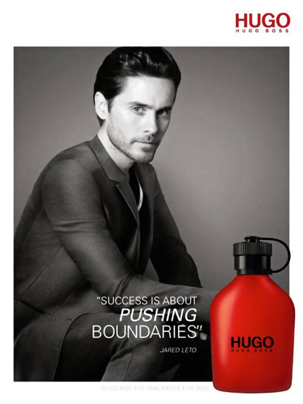 Jared Leto Hugo Boss Hugo Red perfume campaign 2013