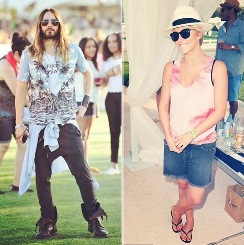Jared Leto Julianne Hough Coachella wearing Zadig Voltaire