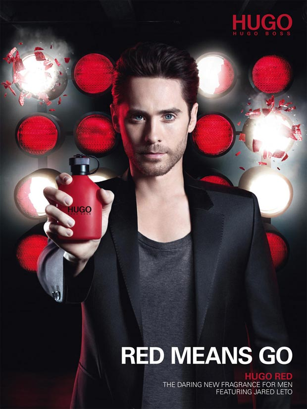Jared Leto new Hugo Red perfume campaign