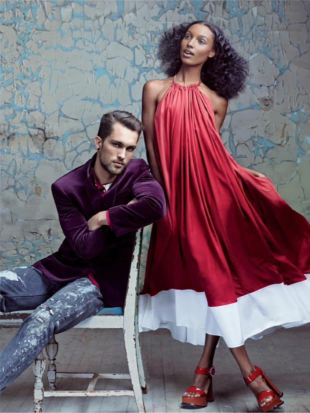 Jasmine Tookes and Boyfriend posing in Vogue