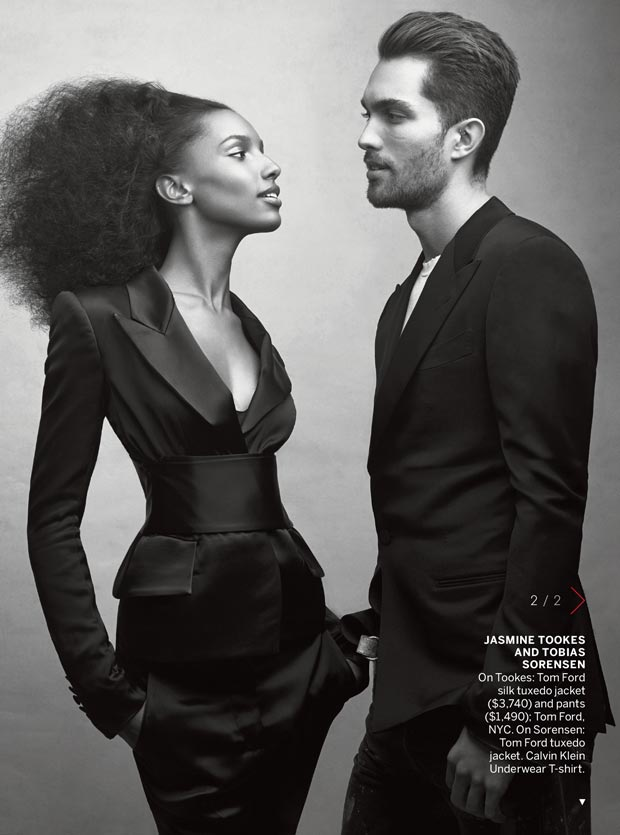 Jasmine Tookes and Boyfriend Tobias Sorensen in Vogue