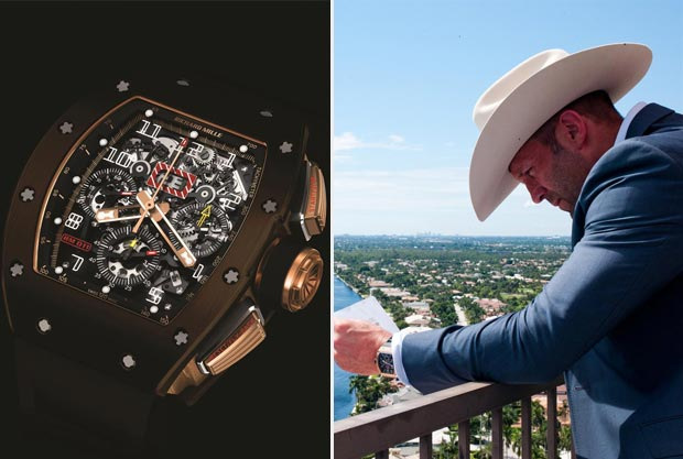 Jason Statham Parker watch Richard Mille RM 011