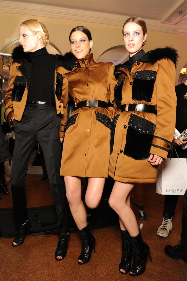 Jason Wu Fall 2013 collection backstage