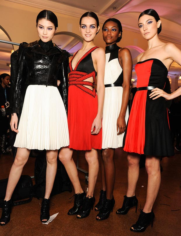Jason Wu Fall 2013 collection models backstage