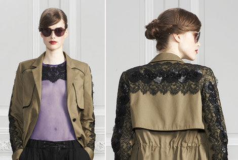 Jason Wu PreFall 2011 lace sequins coat