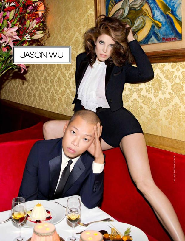 Jason Wu Joins Leggy Stephanie Seymour In Spring 2013 Campaign