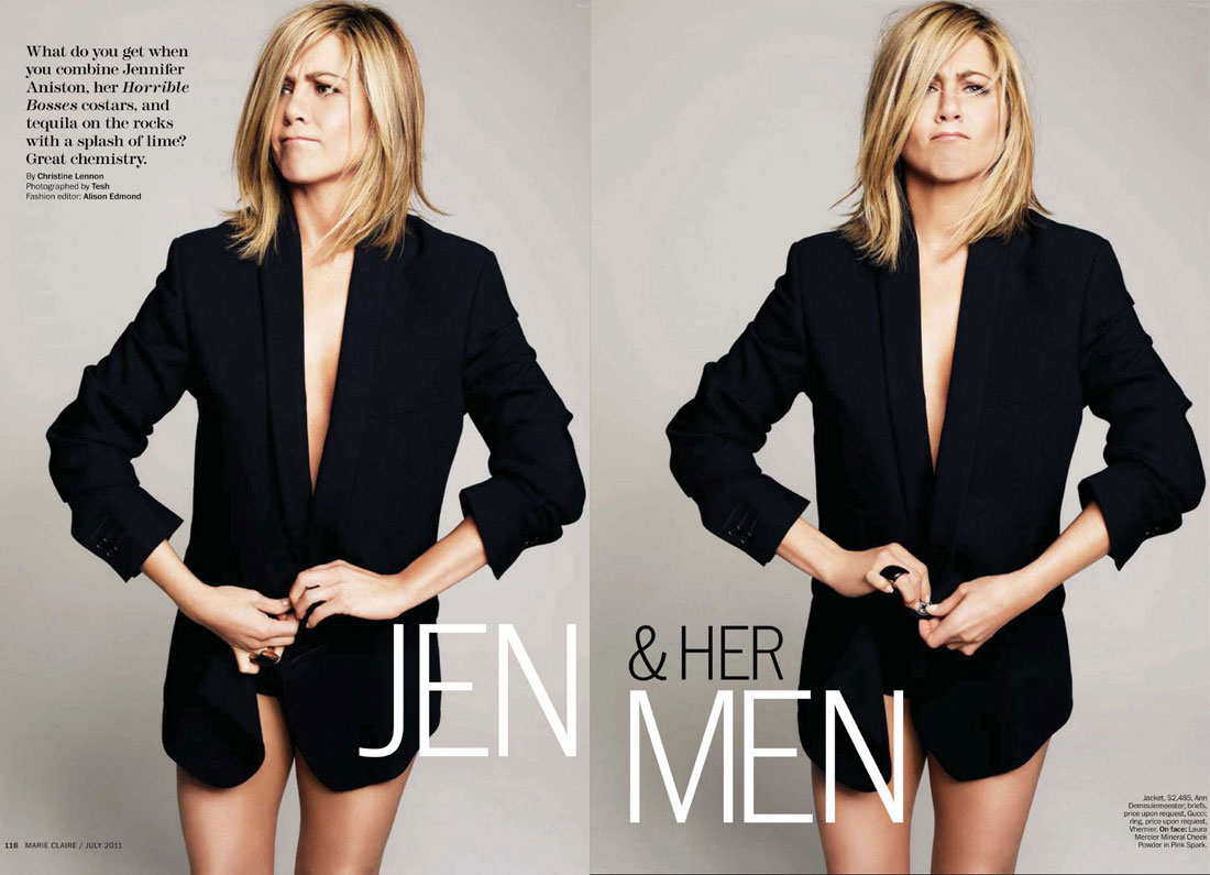 Jen and her men Marie Claire