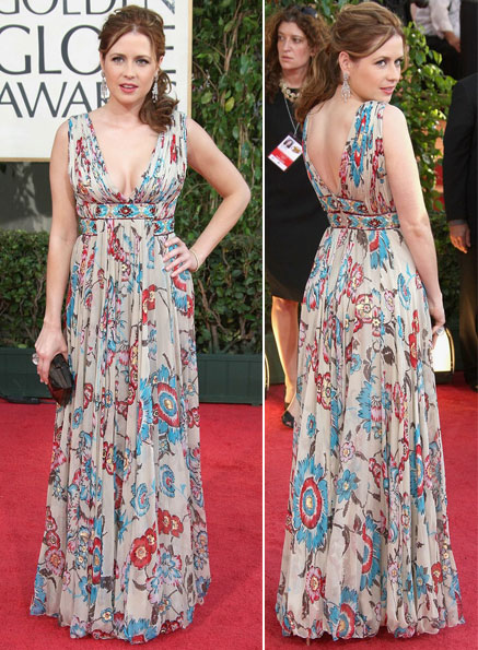 Jenna Fischer Zuhai Murad dress Golden Globes 2009