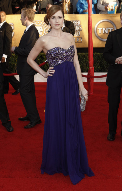 Jenna Fisher blue dress 2010 SAG Awards