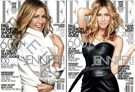 Jennifer Aniston Elle September 2009 cover