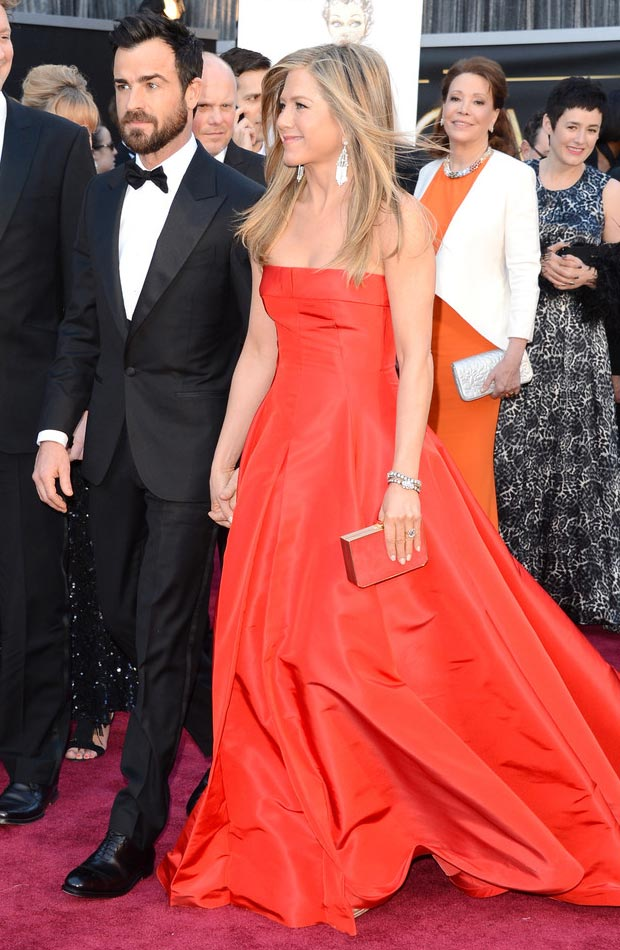 Jennifer Aniston Justin Theroux 2013 Oscars