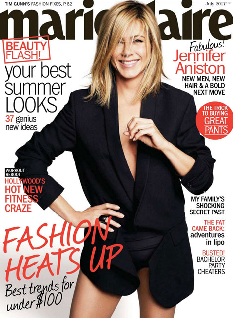 Jennifer Aniston Marie Claire July 2011 cover
