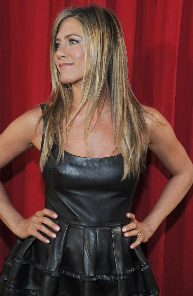 Jennifer Aniston's Dior Black Leather Dress People's Choice Awards