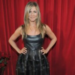 Jennifer Aniston People s Choice Awards black leather dress
