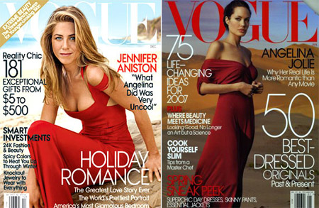 Jennifer Aniston Vogue US December 08 Angelina Jolie Vogue US January 07