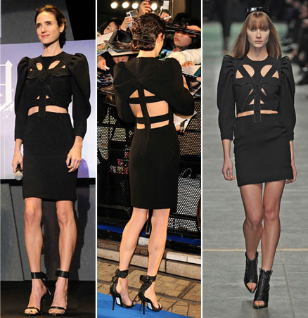 Jennifer Connelly's Black Givenchy In Japan