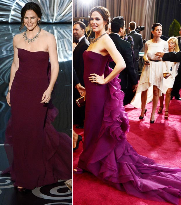 Jennifer Garner violet dress 2013 Oscars