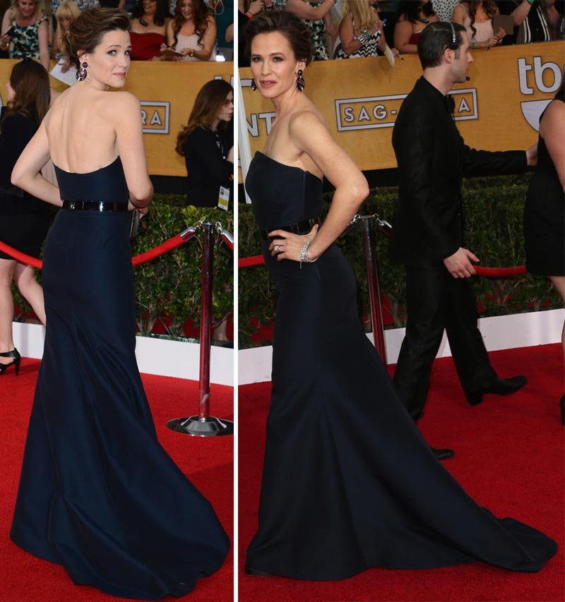 Jennifer Garner Max Mara black dress 2014 SAG Awards