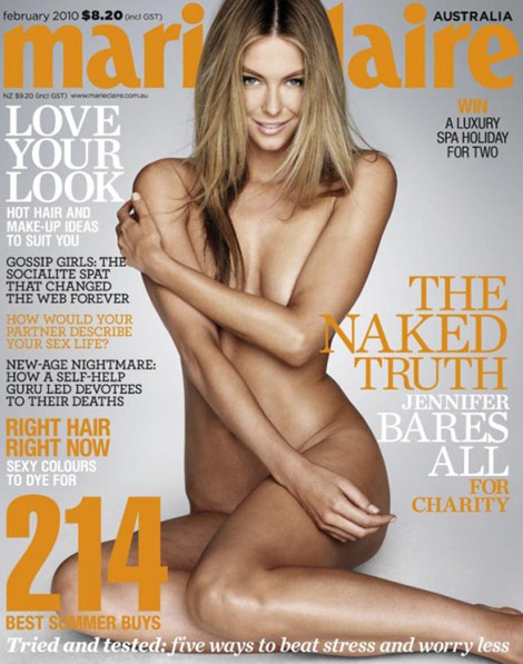Jennifer Hawkins Marie Claire February 2010 cover