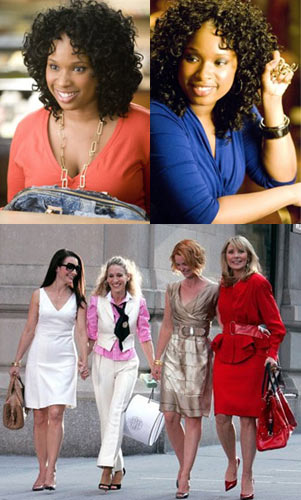 SATC – Jennifer Hudson Plays Carrie Bradshaw Assistant and Borrows Bags