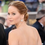 Jennifer Lawrence 2013 Oscars Chopard jewelry hairdo